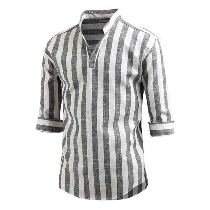 남성용 7부 셔츠 스파클 헨리넥 셔츠 남방 sh2174