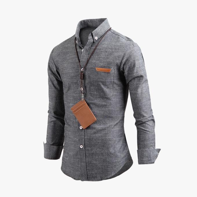 남성 프라임 버튼다운 캐주얼 긴팔 셔츠 남방 sh2292