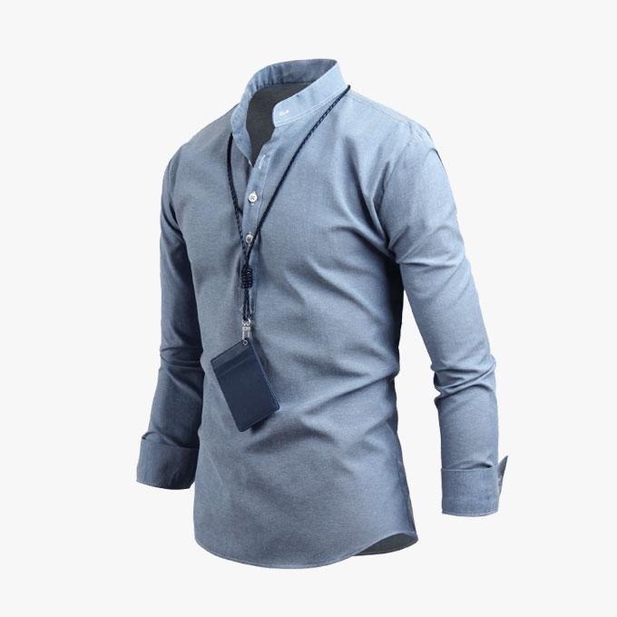남자 인기만점 헨리넥 남성 남방 긴팔 캐주얼 셔츠 sh2342