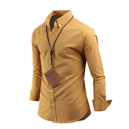남자 에코 스트라이프 남성 긴팔 베이직 셔츠 sh2643