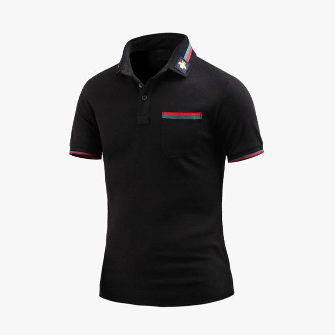 남성 반팔 카라티 투배색포켓 카라 티셔츠 _ts3378