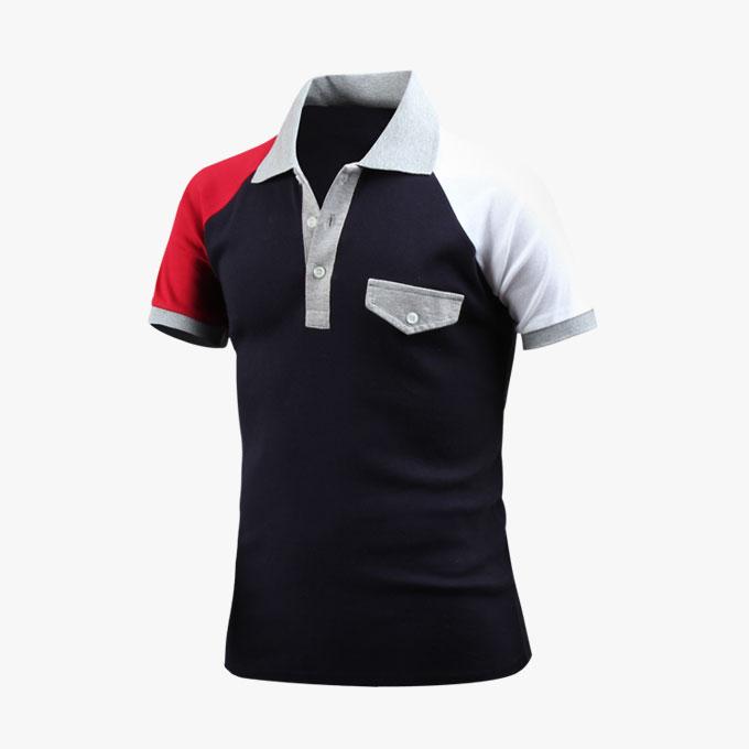 남성용 반팔 카라티 페이크포켓 카라 티셔츠 _ts3461